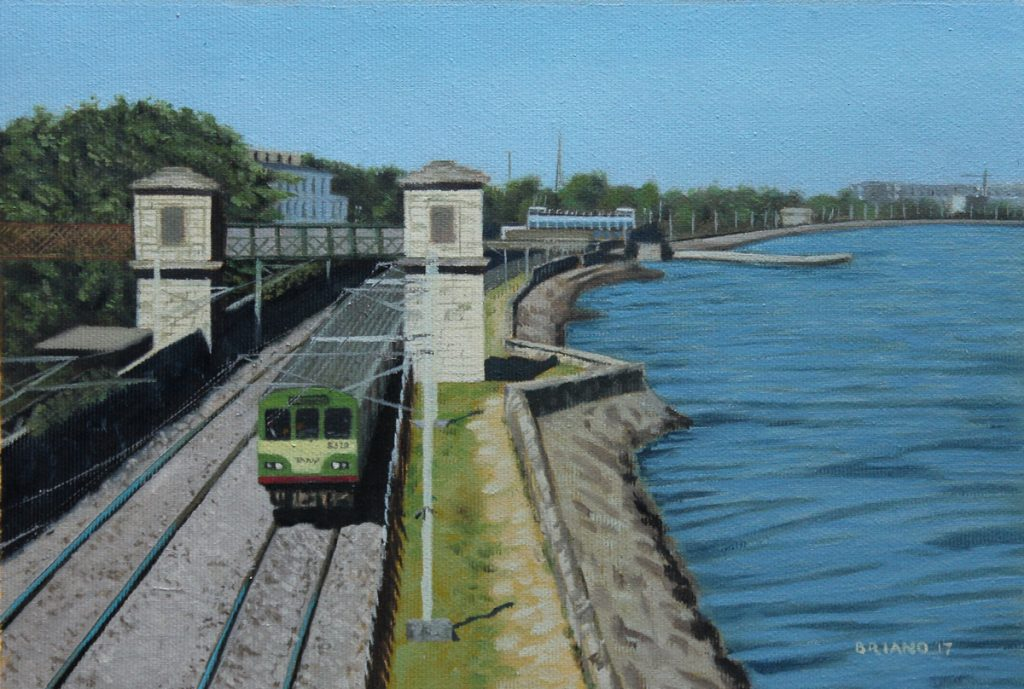 dart leaving blackrock station Dublin